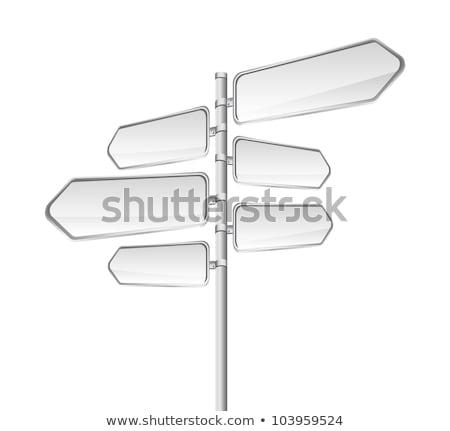 bleu · direction · signe · espace · texte · ciel - photo stock © latent