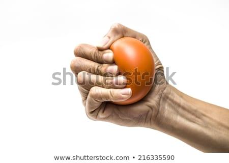 hand squeezing a hand grip Stock photo © pedromonteiro