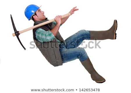 Man with ax tipping helmet Stock photo © photography33