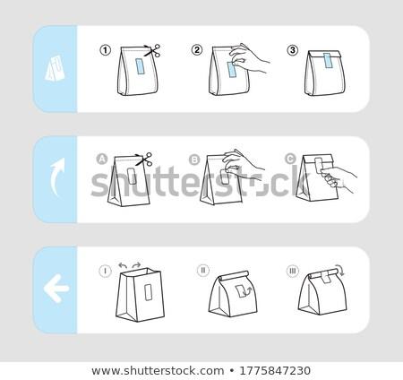 wektora · ikona · pola · pakiety · szablony · papieru - zdjęcia stock © stoyanh