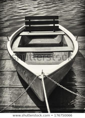 Anchored rowboats Stock photo © t3mujin