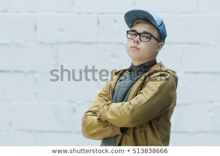 Portrait of teenager in spectacles Stock photo © stockyimages