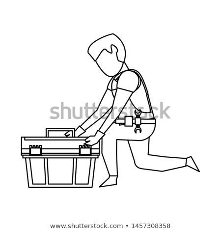 Keres szerszámosláda munka munkás fehér néz Stock fotó © photography33