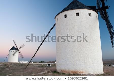 風車 · 1泊 · スペイン · 月 · 旅行 · 暗い - ストックフォト © phbcz