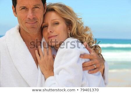 カップル 着用 ドレッシング 笑みを浮かべて 女性 男 ストックフォト © photography33