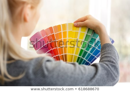 Woman with a color chart Stock photo © photography33