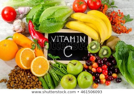 яблоко витамин С белый свет фон жизни Сток-фото © jakgree_inkliang