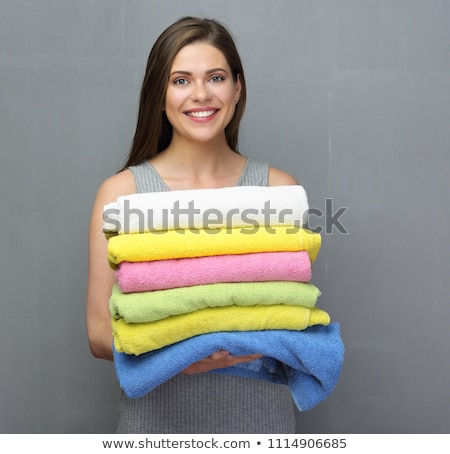 femme · blanche · serviette · résumé · espace · de · copie - photo stock © Nobilior