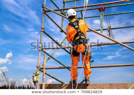 construction worker and ladder stock photo © lisafx