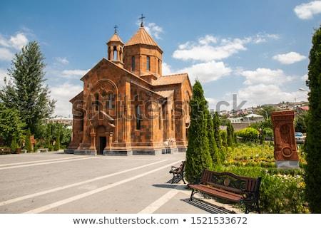 church outside yerevan armenia stock photo © travelphotography