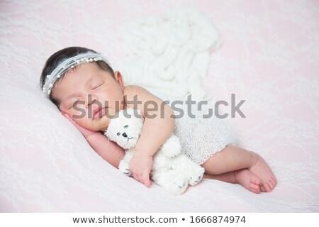 Maman bébé Nounours famille mère rire Photo stock © photography33