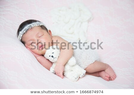 Mom Baby Teddybär Familie Mutter lachen Stock foto © photography33