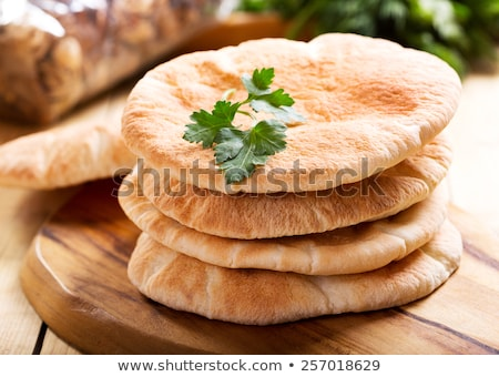 Pita kenyér friss zöldségek fehér nyár zöld Stock fotó © joker
