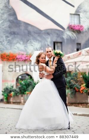 casal · árvore · mulher · verão · retrato · parque - foto stock © photography33