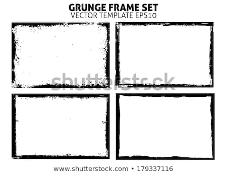 Grunge border on white Stock photo © Lizard