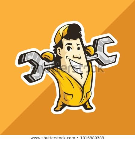 homem · caixa · de · ferramentas · ilustração · 3d · ferramentas · cara - foto stock © photography33