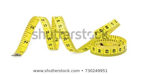 mètre · à · ruban · isolé · blanche · pieds · jaune · régime · alimentaire - photo stock © filmcrew