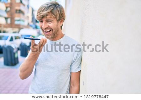 Aantrekkelijk zakenman bericht witte gezicht Stockfoto © wavebreak_media