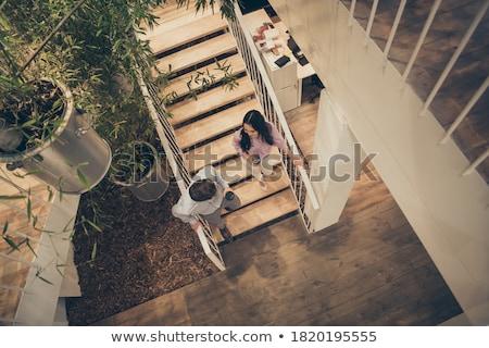 élevé vue équipe commerciale réunion escaliers jeunes Photo stock © wavebreak_media