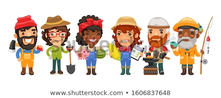 Female laborer with axe Stock photo © photography33
