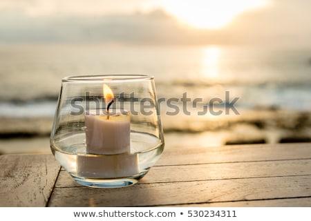 ビーチ · 灰皿 · 環境 · 赤 · サンシェード · 太陽 - ストックフォト © timbrk