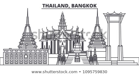 Królestwo Tajlandia asia mapy dodatkowo Zdjęcia stock © Vectorminator