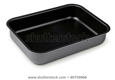 New black nonstick coating roasting pan isolated on white Stock photo © ozaiachin