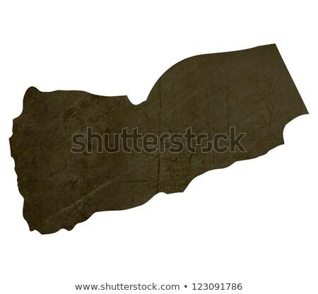 Escuro mapa Iémen isolado branco Foto stock © speedfighter