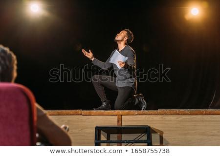 Színház érzelmek drámai színész előadás meztelen Stock fotó © gromovataya