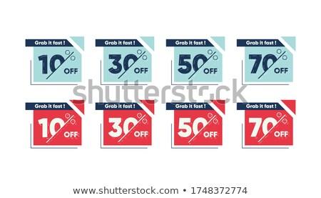 30 percentagens retro etiqueta Foto stock © marinini