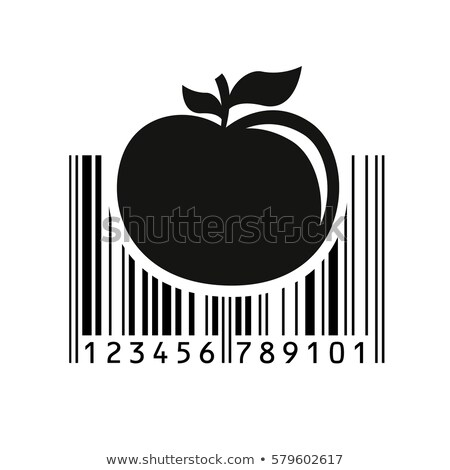 Green apple with bar-code Stock photo © boroda