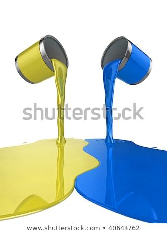 Pennello lucido blu vernice splash suggerimento Foto d'archivio © Lightsource