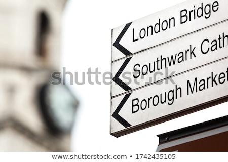 Turista információ jel kék felirat utazás szolgáltatás Stock fotó © Snapshot