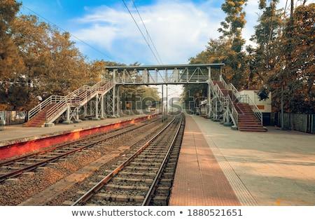 железная дорога испуг поездов небе связи Сток-фото © ABBPhoto