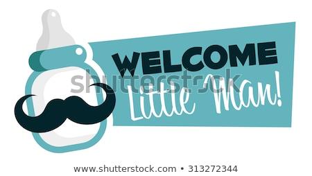 new baby boy announcement card stock photo © balasoiu