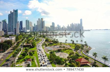 Panama · glanzend · hartvorm · vlaggen · hart - stockfoto © Vectorminator