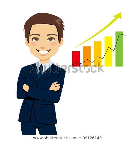 Salesman showing graph of earnings Stock photo © photography33