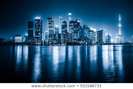 water reflection on a skyscraper stock photo © elxeneize