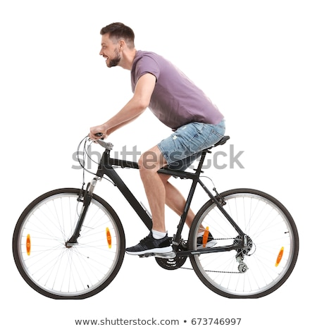 man riding  bicycle Stock photo © taden