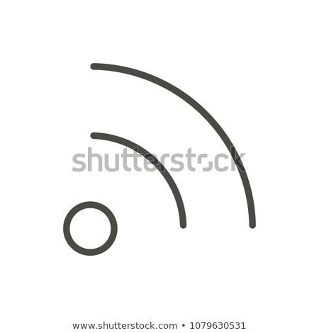 Rss symbool logo oranje icon witte Stockfoto © iqoncept