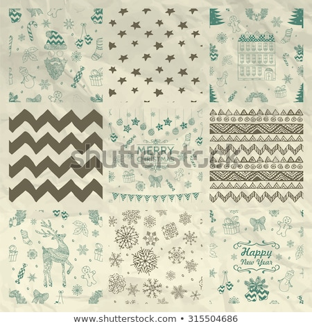 vector seamless winter pattern, crumpled paper texture Stock photo © alexmakarova