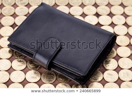 黒 革 財布 孤立した 白 お金 ストックフォト © homydesign