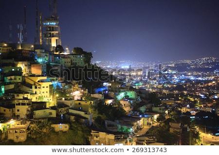 Centro da cidade cena noturna Equador céu nuvens Foto stock © pxhidalgo