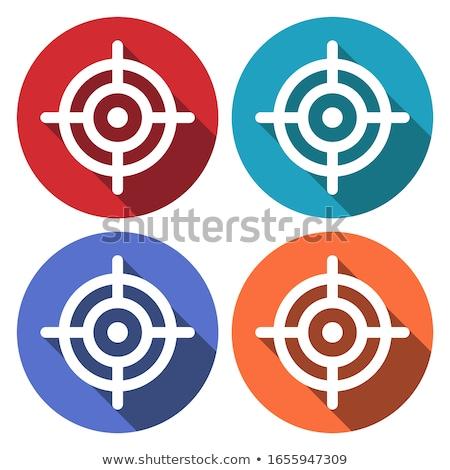színes · absztrakt · cél · ikon · üzlet · terv - stock fotó © cidepix