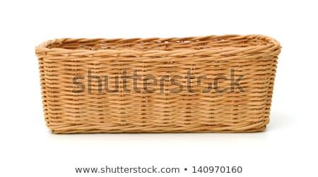 izolált · fonott · kosár · zöldségek · étel · tojás - stock fotó © m-studio