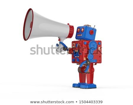 Android megafon zöld tudomány kommunikáció robot Stock fotó © Kirill_M