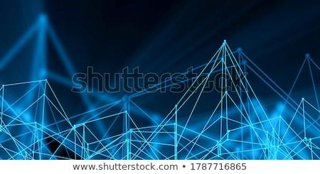 Technológia váz hálózat nagy adat biztonság Stock fotó © kentoh