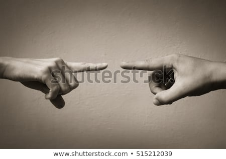 angry woman accusing you by pointing finger Stock photo © feedough