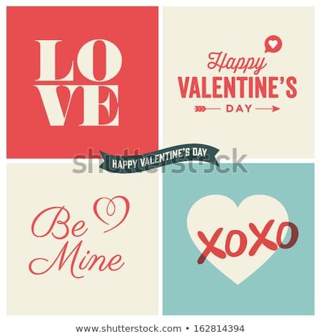 Feliz dia dos namorados amor belo texto cartão Foto stock © bharat
