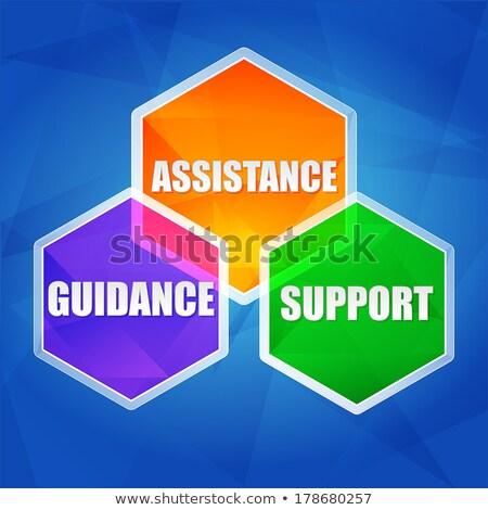 Támogatás támogatás útmutatás terv üzlet szavak Stock fotó © marinini